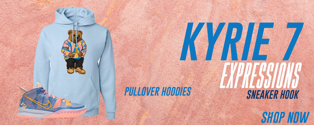 Kyrie 7 Expressions Pullover Hoodies to match Sneakers | Hoodies to match Nike Kyrie 7 Expressions Shoes