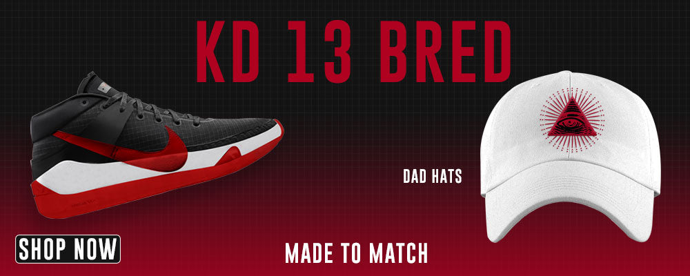 KD 13 Bred Dad Hats to match Sneakers | Hats to match Nike KD 13 Bred Shoes