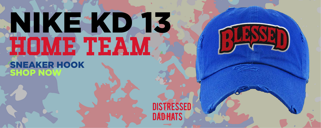 KD 13 Home Distressed Dad Hats to match Sneakers | Hats to match Nike KD 13 Home Shoes