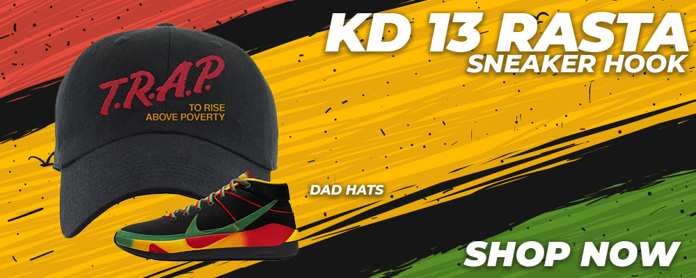 KD 13 Rasta Dad Hats to match Sneakers | Hats to match Nike KD 13 Rasta Shoes