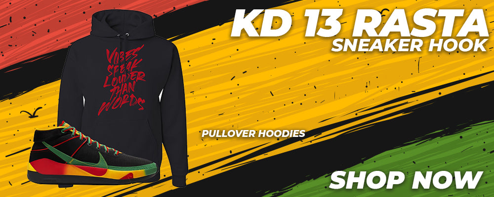 KD 13 Rasta Pullover Hoodies to match Sneakers | Hoodies to match Nike KD 13 Rasta Shoes