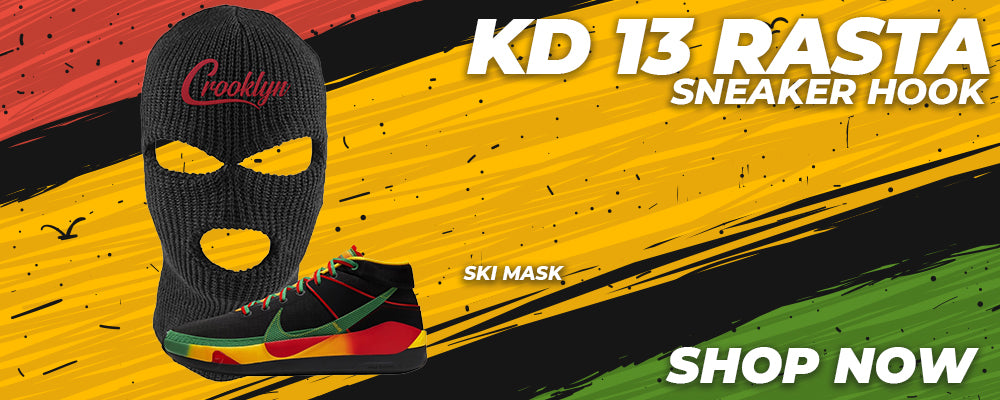 KD 13 Rasta Ski Masks to match Sneakers | Winter Masks to match Nike KD 13 Rasta Shoes