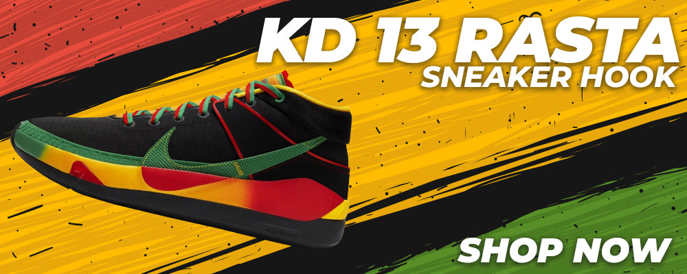 KD 13 Rasta Clothing to match Sneakers | Clothing to match Nike KD 13 Rasta Shoes