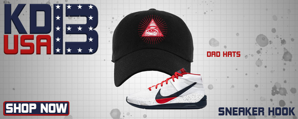 KD 13 USA Dad Hats to match Sneakers | Hats to match Nike KD 13 USA Shoes
