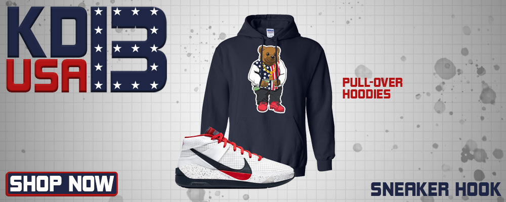 KD 13 USA Pullover Hoodies to match Sneakers | Hoodies to match Nike KD 13 USA Shoes