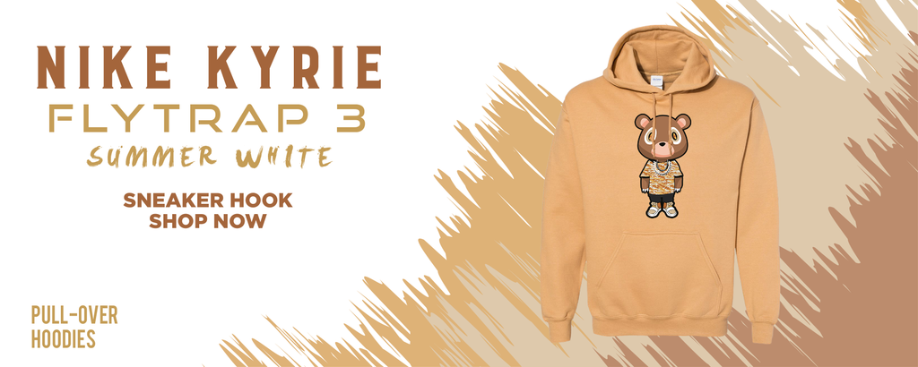 Kyrie Flytrap 3 Summit White Pullover Hoodies to match Sneakers | Hoodies to match Nike Kyrie Flytrap 3 Summit White Shoes