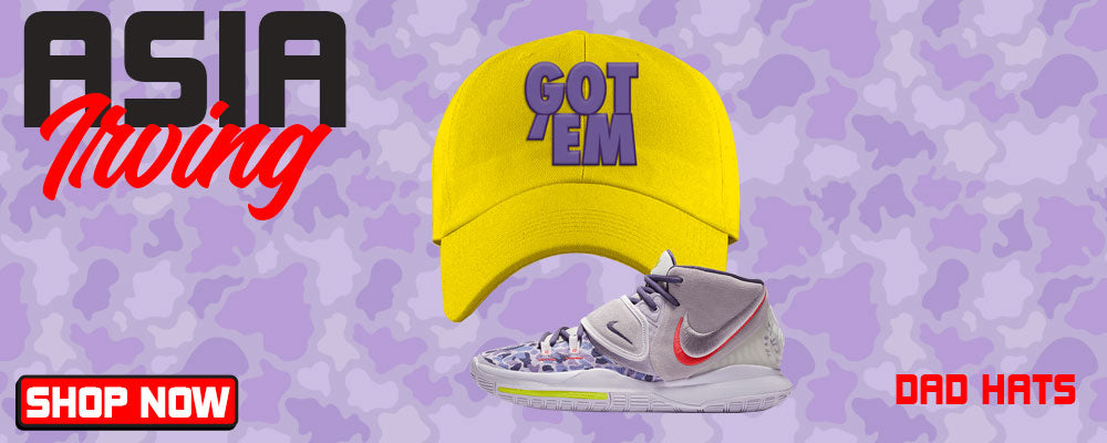 Kyrie 6 Asia Irving Dad Hats to match Sneakers | Hats to match Nike Kyrie 6 Asia Irving Shoes