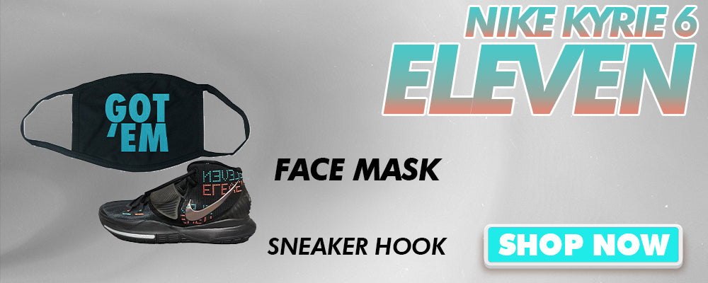 Kyrie 6 Eleven Face Mask to match Sneakers | Masks to match Nike Kyrie 6 Eleven Shoes