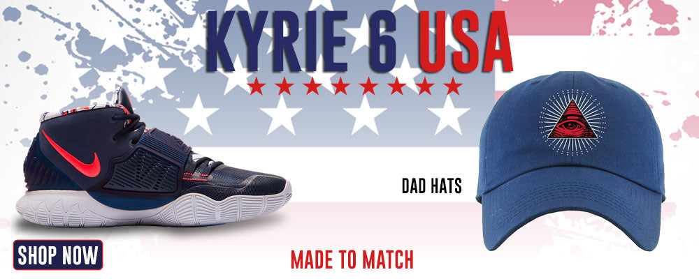 Kyrie 6 USA Dad Hats to match Sneakers | Hats to match Nike Kyrie 6 USA Shoes
