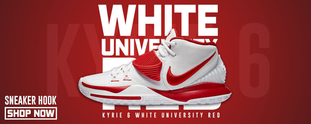 Kyrie 6 White University Red Clothing to match Sneakers | Clothing to match Nike Kyrie 6 White University Red Shoes