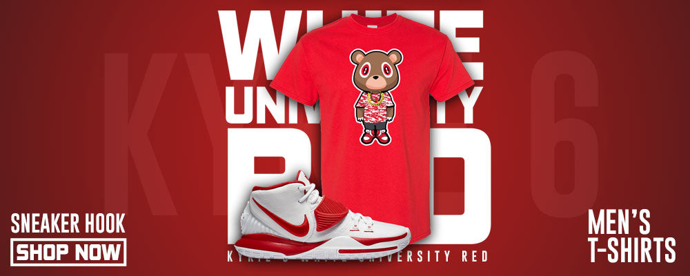 Kyrie 6 White University Red T Shirts to match Sneakers | Tees to match Nike Kyrie 6 White University Red Shoes