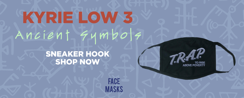 Kyrie Low 3 Ancient Symbols Face Mask to match Sneakers | Masks to match Nike Kyrie Low 3 Ancient Symbols Shoes