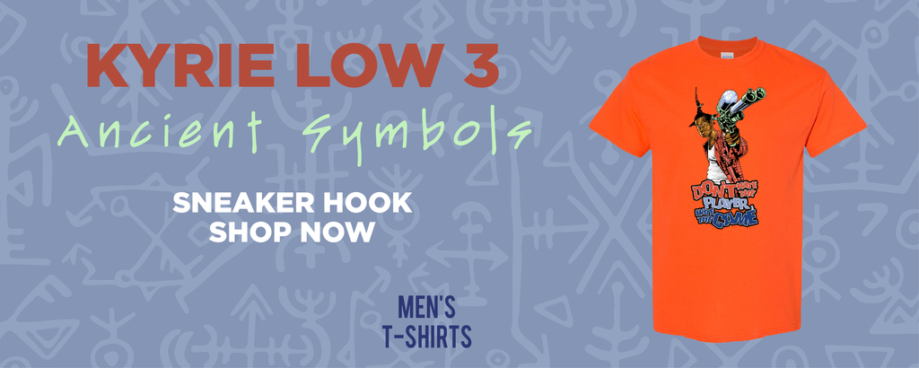 Kyrie Low 3 Ancient Symbols T Shirts to match Sneakers | Tees to match Nike Kyrie Low 3 Ancient Symbols Shoes