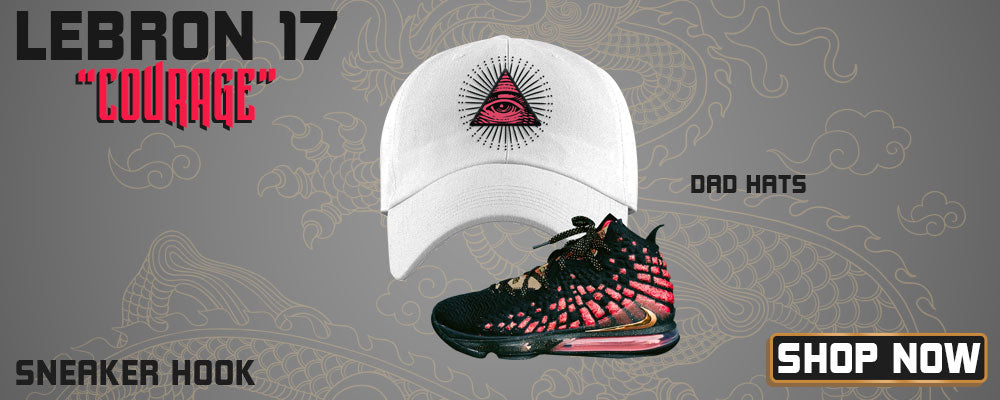LeBron 17 'Courage' Dad Hats to match Sneakers | Hats to match Nike LeBron 17 'Courage' Shoes