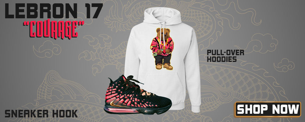 LeBron 17 'Courage' Pullover Hoodies to match Sneakers | Hoodies to match Nike LeBron 17 'Courage' Shoes