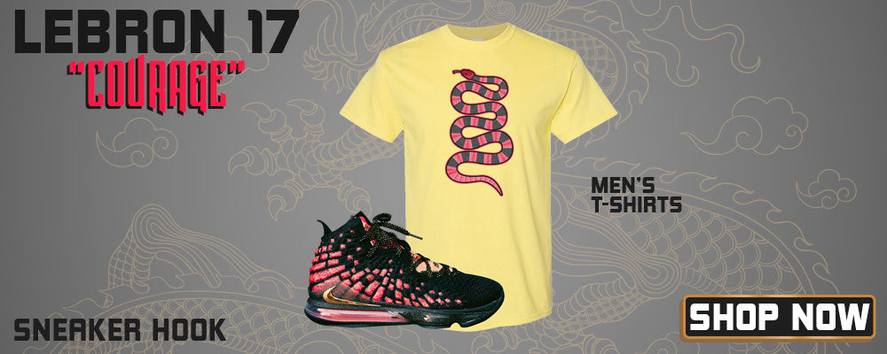 LeBron 17 'Courage' T Shirts to match Sneakers | Tees to match Nike LeBron 17 'Courage' Shoes