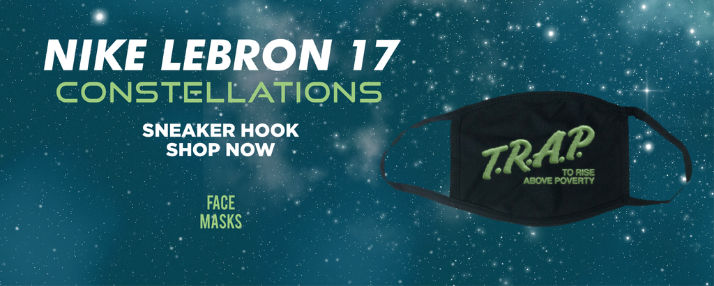 LeBron 17 Constellations Face Mask to match Sneakers | Masks to match Nike LeBron 17 Constellations Shoes