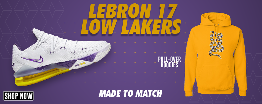 Lebron 17 Low Lakers Pullover Hoodies to match Sneakers | Hoodies to match Nike Lebron 17 Low Lakers Shoes
