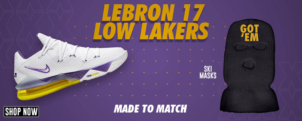 Lebron 17 Low Lakers Ski Masks to match Sneakers | Winter Masks to match Nike Lebron 17 Low Lakers Shoes
