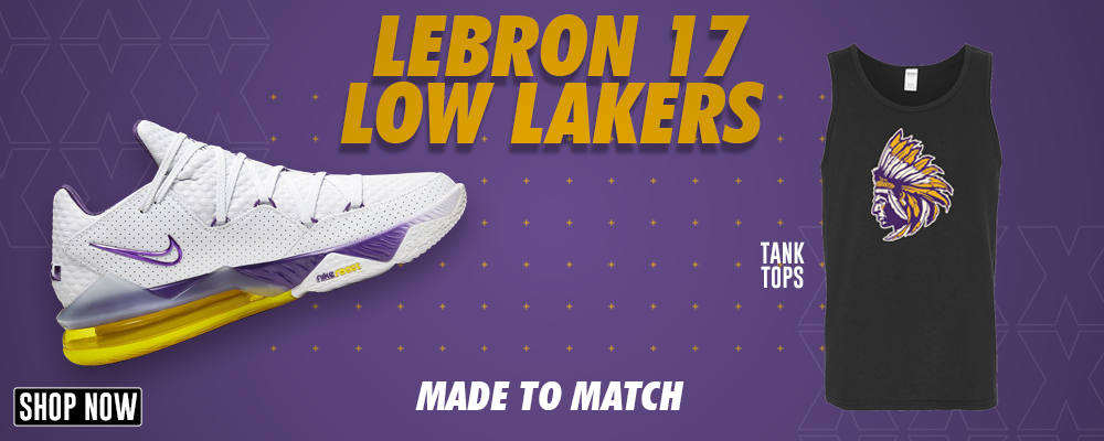 Lebron 17 Low Lakers Tank Tops to match Sneakers | Tanks to match Nike Lebron 17 Low Lakers Shoes