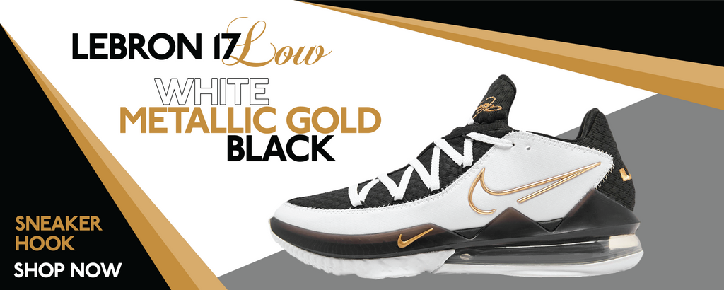 Lebron 17 Low White/Metallic Gold/Black Clothing to match Sneakers | Clothing to match Nike Lebron 17 Low White/Metallic Gold/Black Shoes