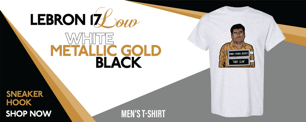 Lebron 17 Low White/Metallic Gold/Black T Shirts to match Sneakers | Tees to match Nike Lebron 17 Low White/Metallic Gold/Black Shoes