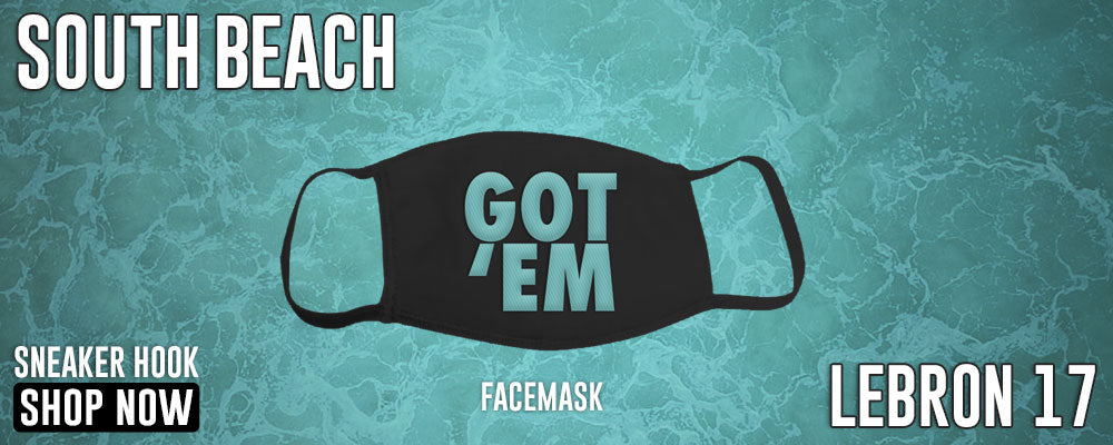 LeBron 17 'South Beach' Face Mask to match Sneakers | Masks to match Nike LeBron 17 'South Beach' Shoes