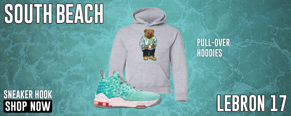 LeBron 17 'South Beach' Pullover Hoodies to match Sneakers | Hoodies to match Nike LeBron 17 'South Beach' Shoes