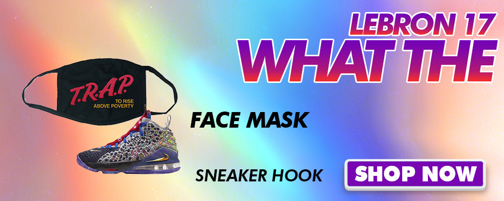 LeBron 17 'What The' Face Mask to match Sneakers | Masks to match Nike LeBron 17 'What The' Shoes