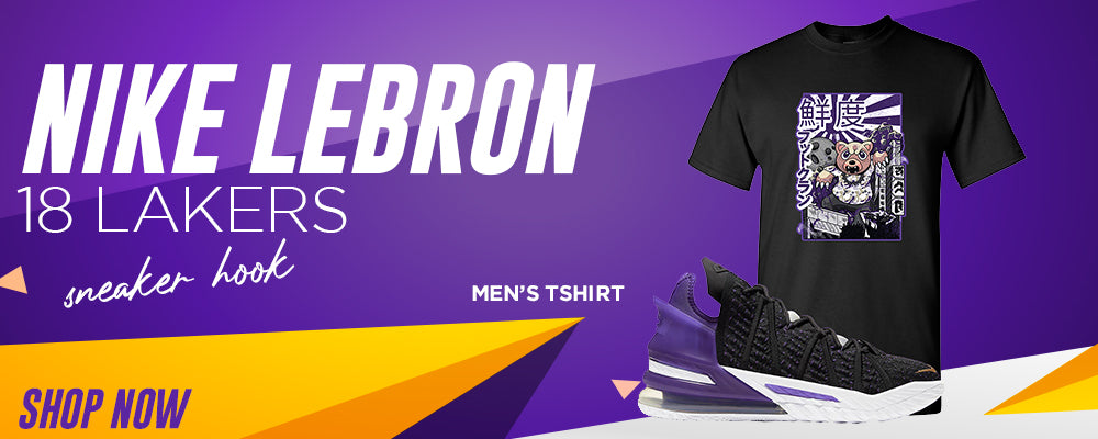 Lebron 18 Lakers T Shirts to match Sneakers | Tees to match Nike Lebron 18 Lakers Shoes