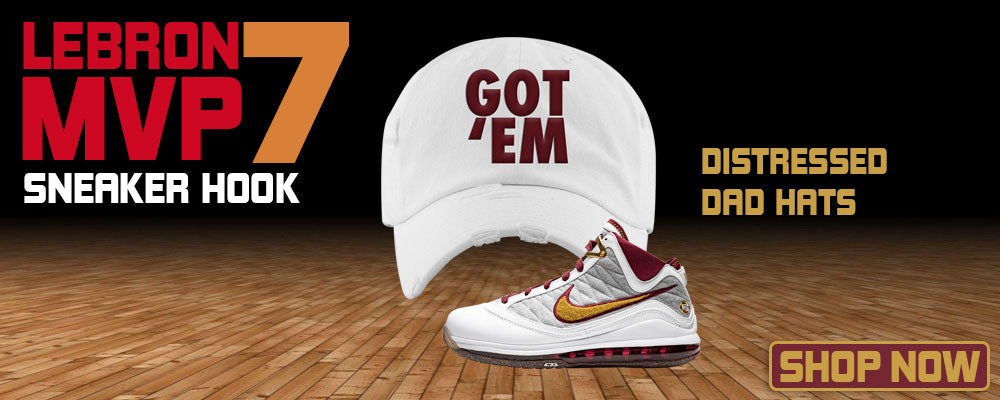 LeBron 7 MVP Distressed Dad Hats to match Sneakers | Hats to match Nike LeBron 7 MVP Shoes