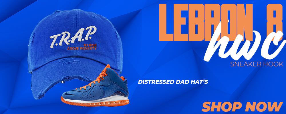 LeBron 8 HWC Distressed Dad Hats to match Sneakers | Hats to match Nike LeBron 8 HWC Shoes