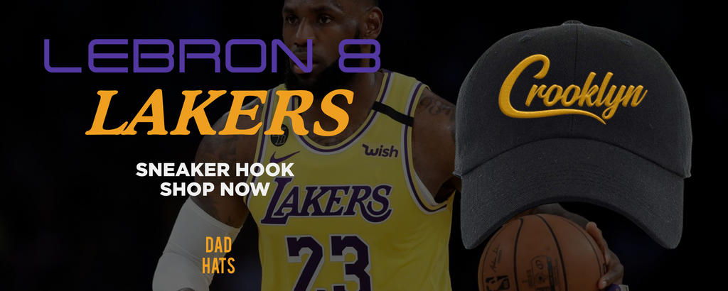 Lebron 8 Lakers Dad Hats to match Sneakers   Hats to match Nike Lebron 8 Lakers Shoes