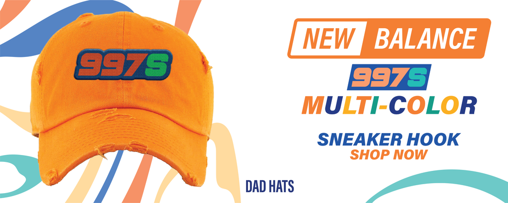 New Balance 997S Multicolor Dad Hats to match Sneakers | Hats to match New Balance 997S Multicolor Shoes