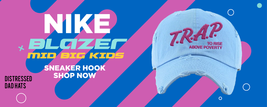 Blazer Mid Big Kids Distressed Dad Hats to match Sneakers | Hats to match Nike Blazer Mid Big Kids Shoes
