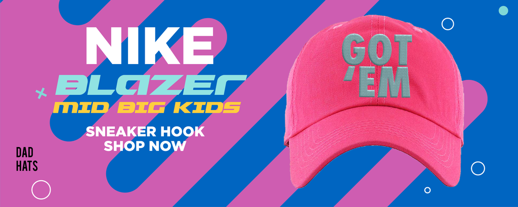 Blazer Mid Big Kids Dad Hats to match Sneakers | Hats to match Nike Blazer Mid Big Kids Shoes