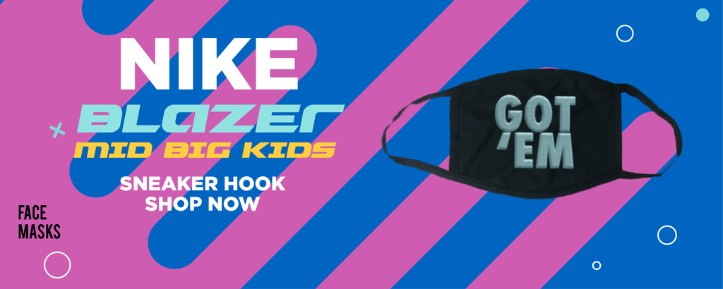 Blazer Mid Big Kids Face Mask to match Sneakers | Masks to match Nike Blazer Mid Big Kids Shoes