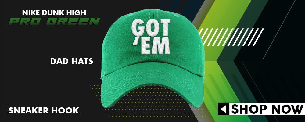 Dunk High Pro Green Dad Hats to match Sneakers | Hats to match Nike Dunk High Pro Green Shoes