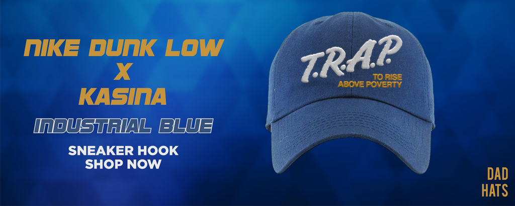 Dunk Low Industrial Blue x Kasina Dad Hats to match Sneakers | Hats to match Nike Dunk Low Industrial Blue x Kasina Shoes