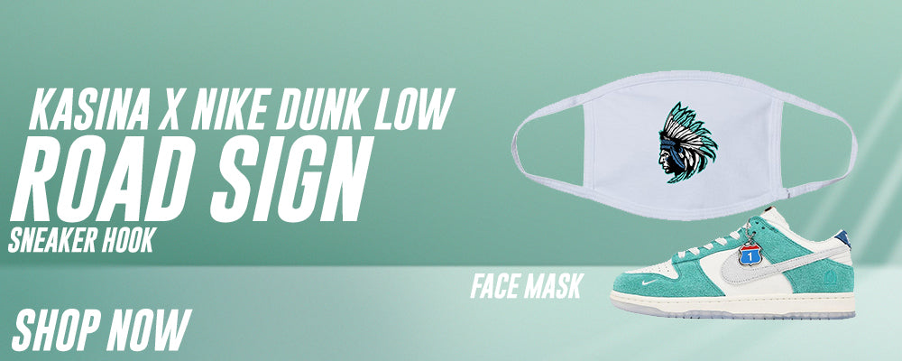 Dunk Low Road Sign x Kasina Face Mask to match Sneakers | Masks to match Nike Dunk Low Road Sign x Kasina Shoes