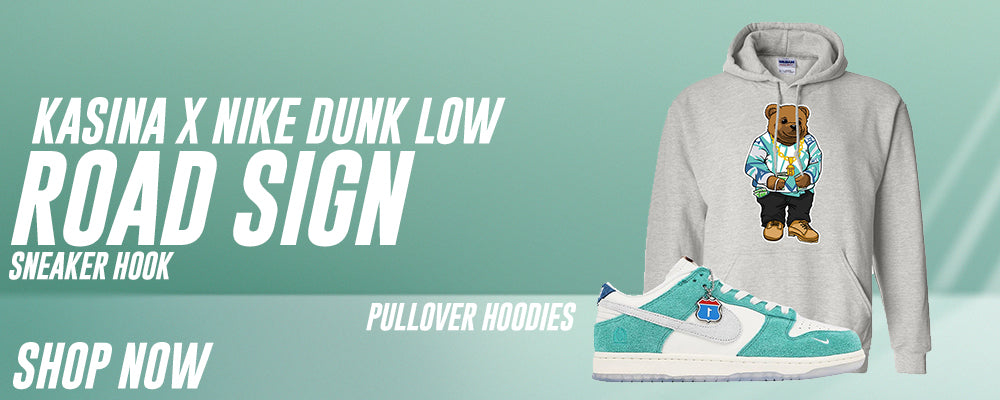 Dunk Low Road Sign x Kasina Pullover Hoodies to match Sneakers | Hoodies to match Nike Dunk Low Road Sign x Kasina Shoes