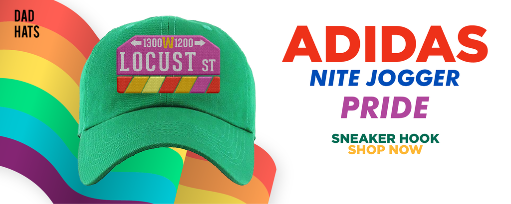Adidas Nite Jogger 'Pride' Dad Hats to match Sneakers | Hats to match Nike Adidas Nite Jogger 'Pride' Shoes