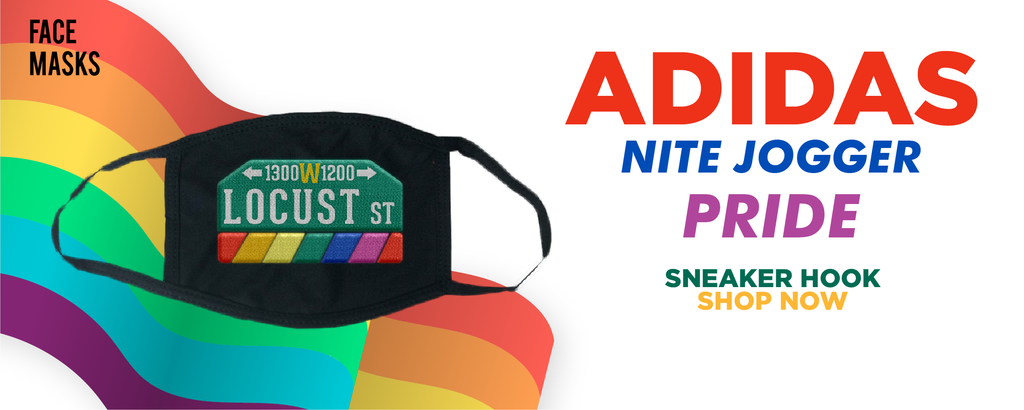 Adidas Nite Jogger 'Pride' Face Mask to match Sneakers | Masks to match Nike Adidas Nite Jogger 'Pride' Shoes