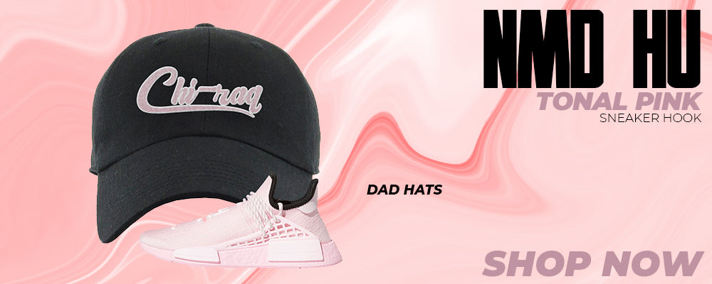NMD Hu Tonal Pink Dad Hats to match Sneakers | Hats to match Adidas NMD Hu Tonal Pink Shoes