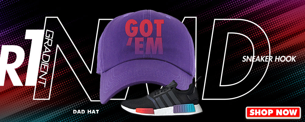 NMD R1 Gradient Dad Hats to match Sneakers | Hats to match Adidas NMD R1 Gradient Shoes