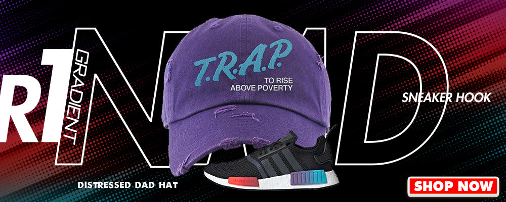 NMD R1 Gradient Distressed Dad Hats to match Sneakers | Hats to match Adidas NMD R1 Gradient Shoes