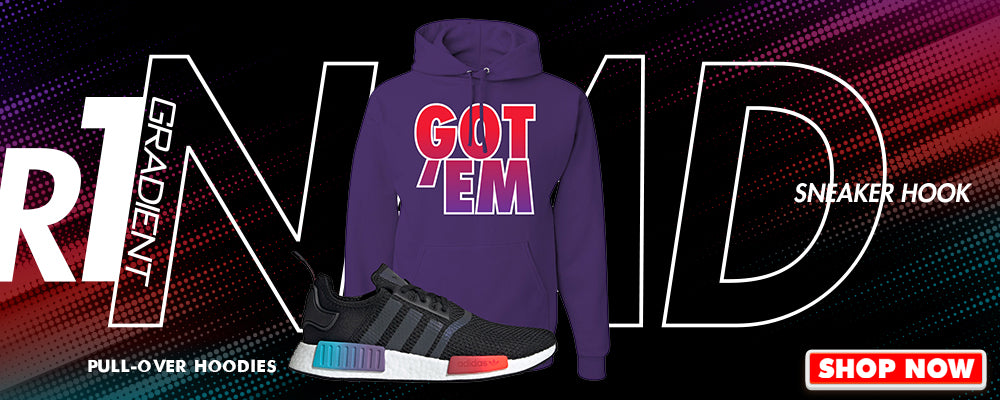 NMD R1 Gradient Pullover Hoodies to match Sneakers | Hoodies to match Adidas NMD R1 Gradient Shoes