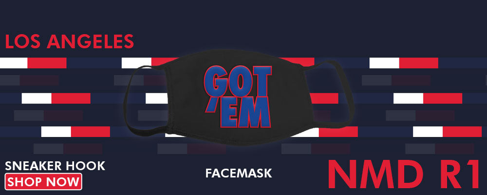 NMD R1 Los Angeles Face Mask to match Sneakers | Masks to match Adidas NMD R1 Los Angeles Shoes