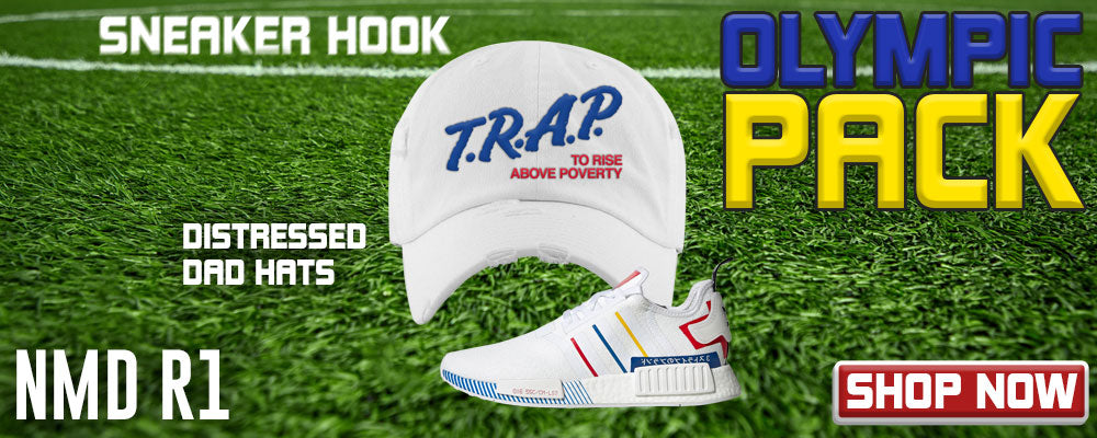 NMD R1 'Olympic Pack' Distressed Dad Hats to match Sneakers | Hats to match Adidas NMD R1 'Olympic Pack' Shoes