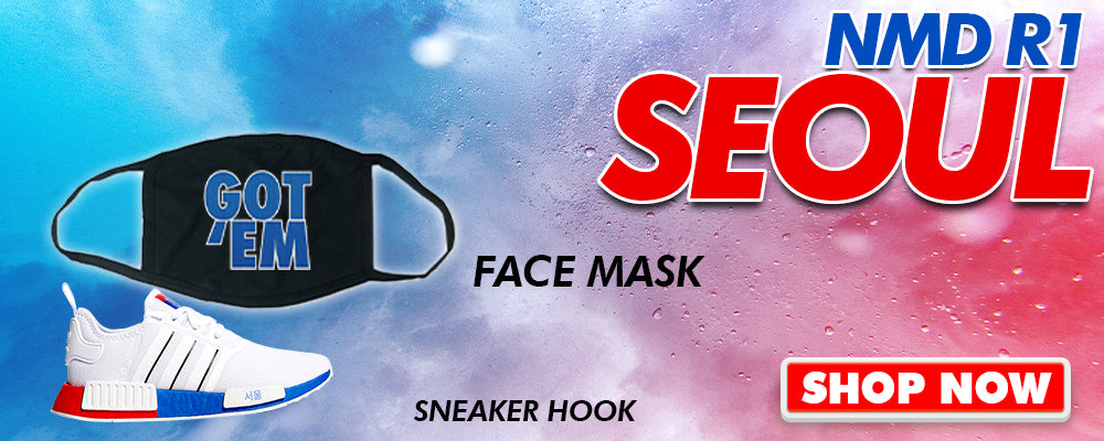 NMD R1 Seoul Face Mask to match Sneakers | Masks to match Adidas NMD R1 Seoul Shoes